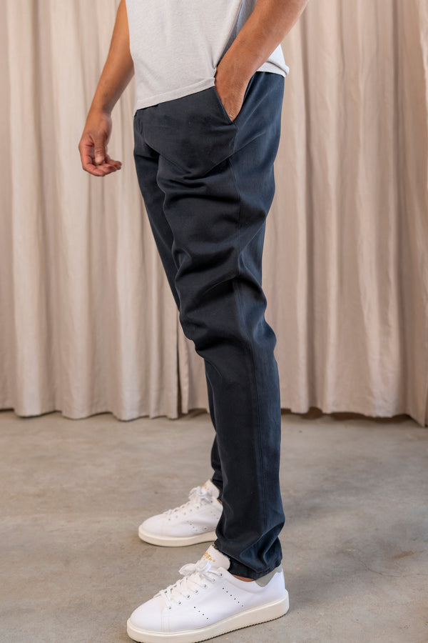 Cotton Trousers in Navy