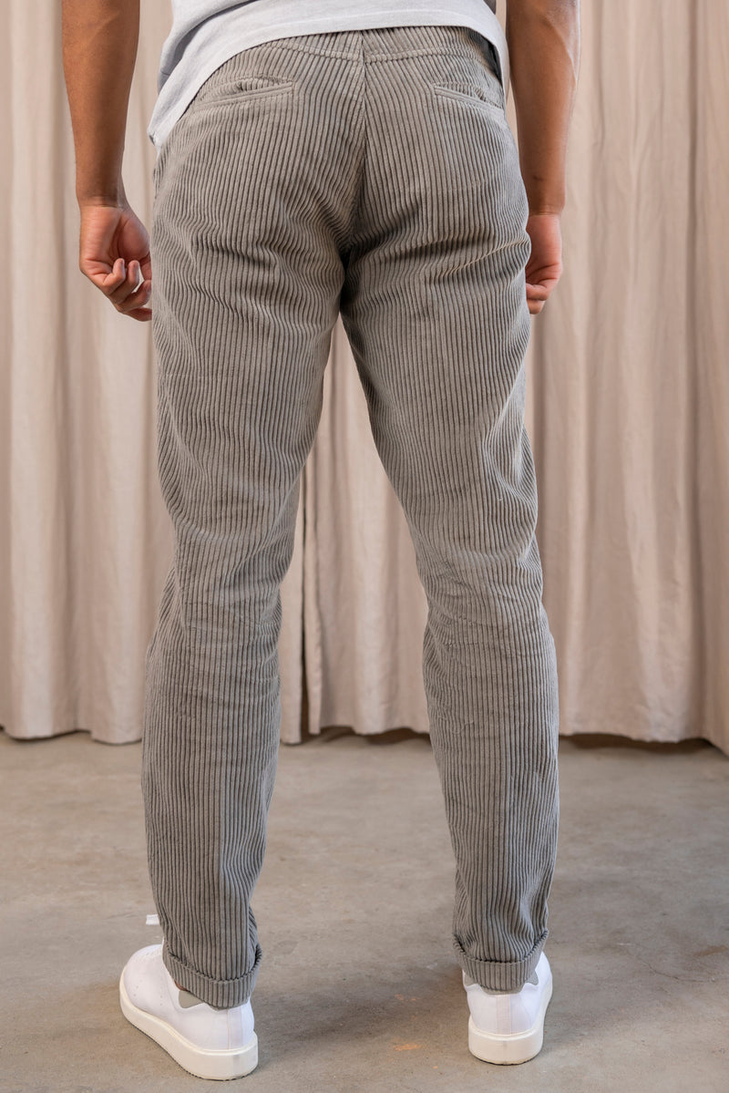Smart Fancy Chord Joggpant in Taupe