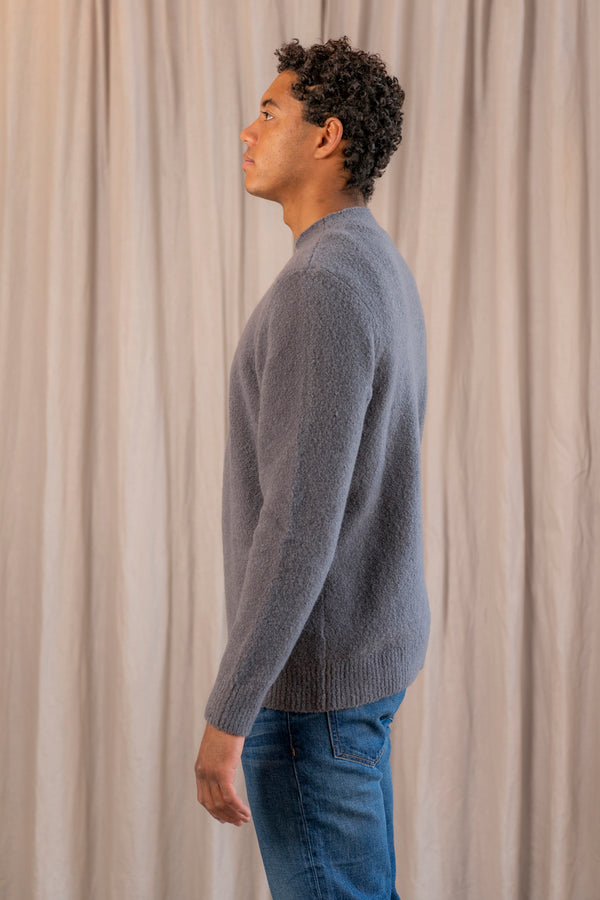 The Mock Neck in Charcoal