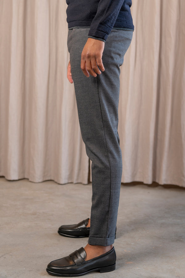Smart Flannel Joggpant in Grey