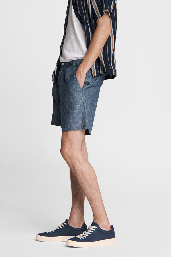 Men's Eaton Pull On Shorts in Indigo