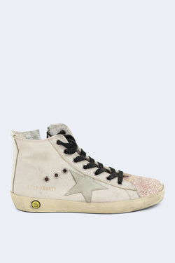 Francy Cyclamine Glitter White Star Sneakers