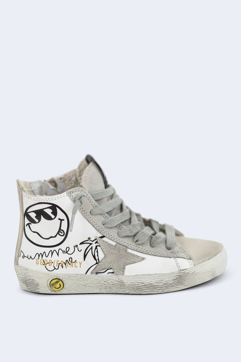 Francy Summer Time White Leather Sneakers