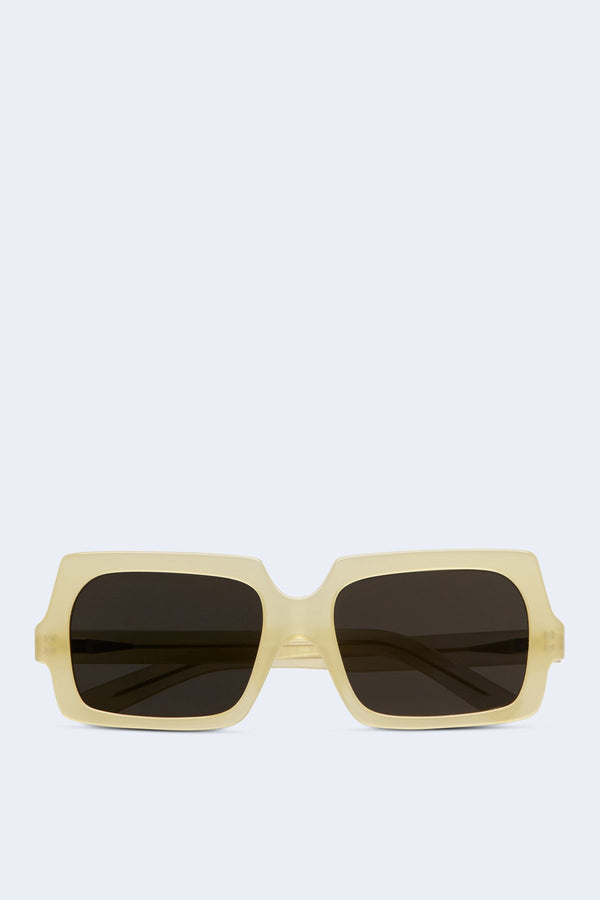 George Large Sunglasses in Yellow Silver