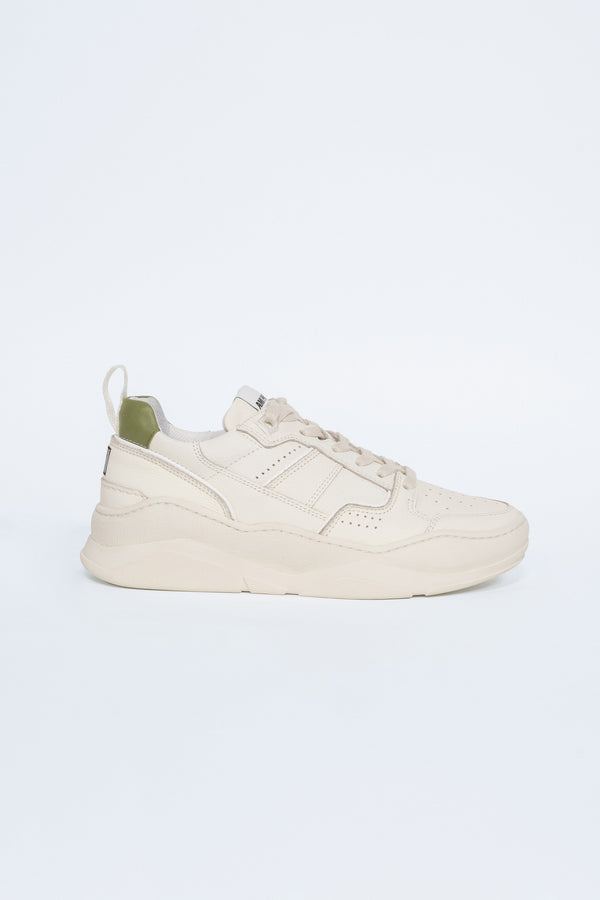 Basket Basse Sneakers in Ecru Green