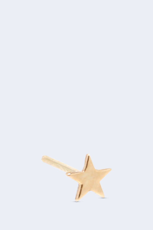14K Gold Itty Bitty Star Stud Earring SINGLE
