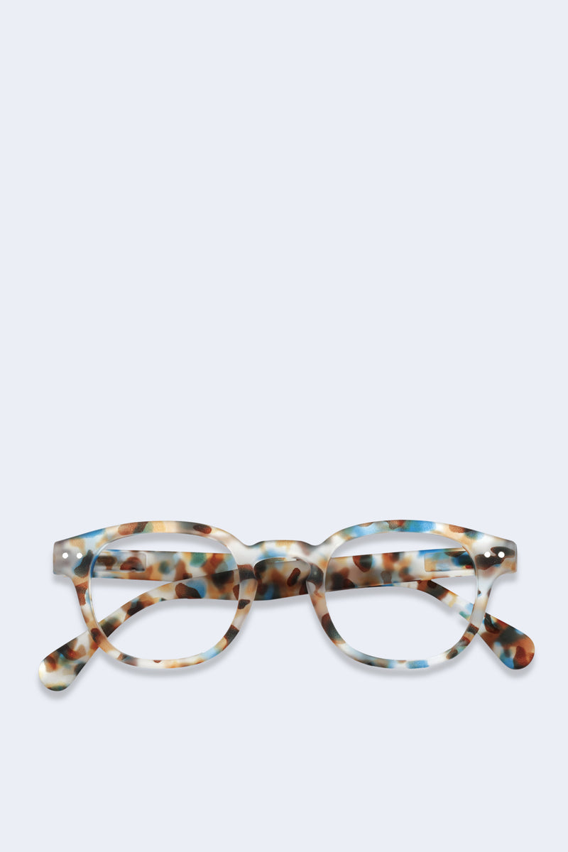 Reading Glasses #C Blue Tortoise Soft
