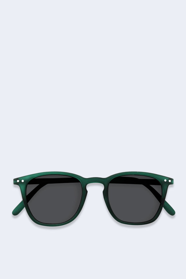 Sunglasses #E Green Crystal Soft Grey Lenses