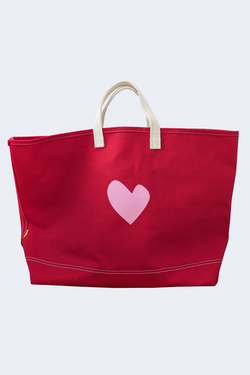 Imperfect Heart Tote in Red
