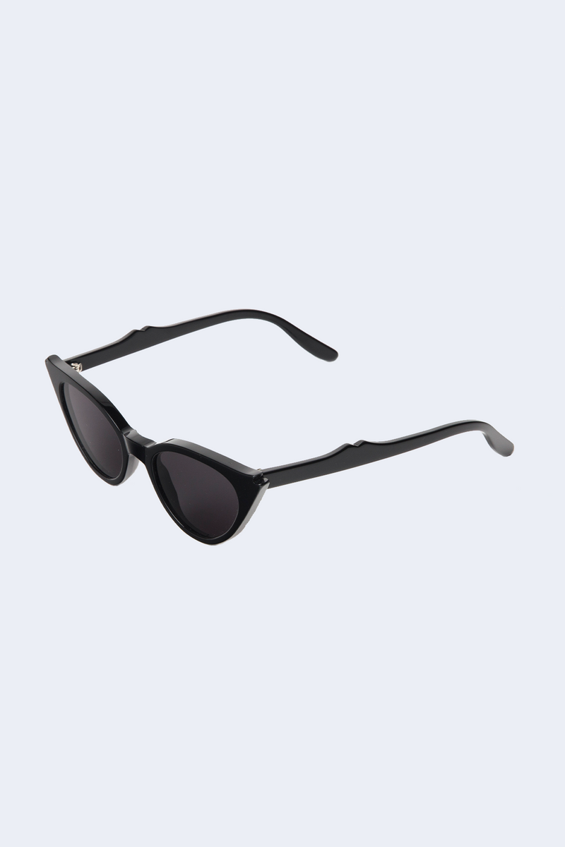Isabella Black Sunglasses with Grey Flat Lens