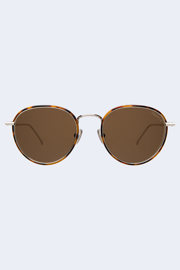 Jefferson Ace Tortoise Silver Sunglasses with Brown Flat Lens
