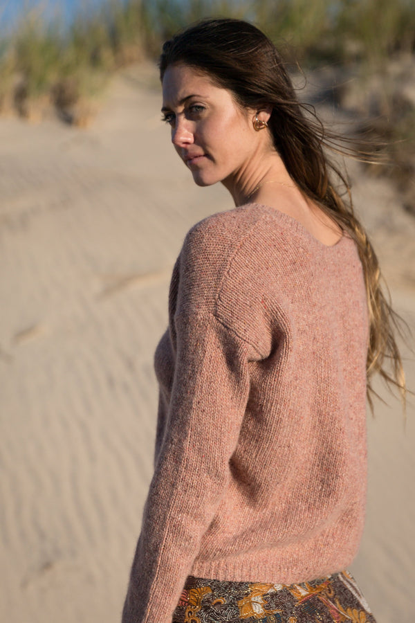 Cashmere Long Sleeve Sweater back