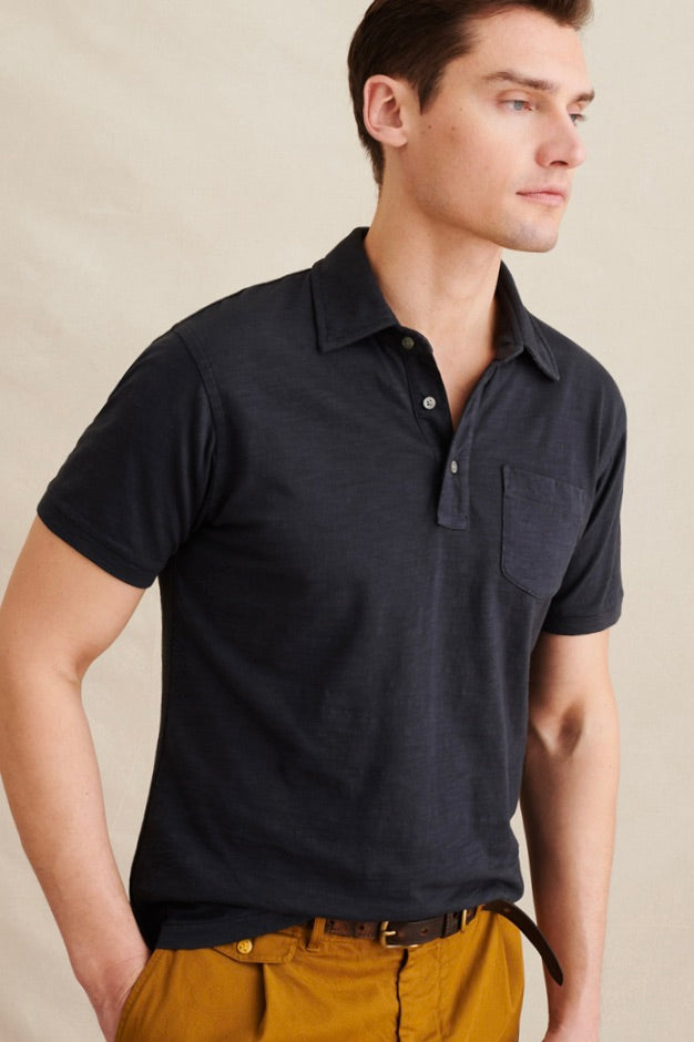 Men's Rugby Polo in Black
