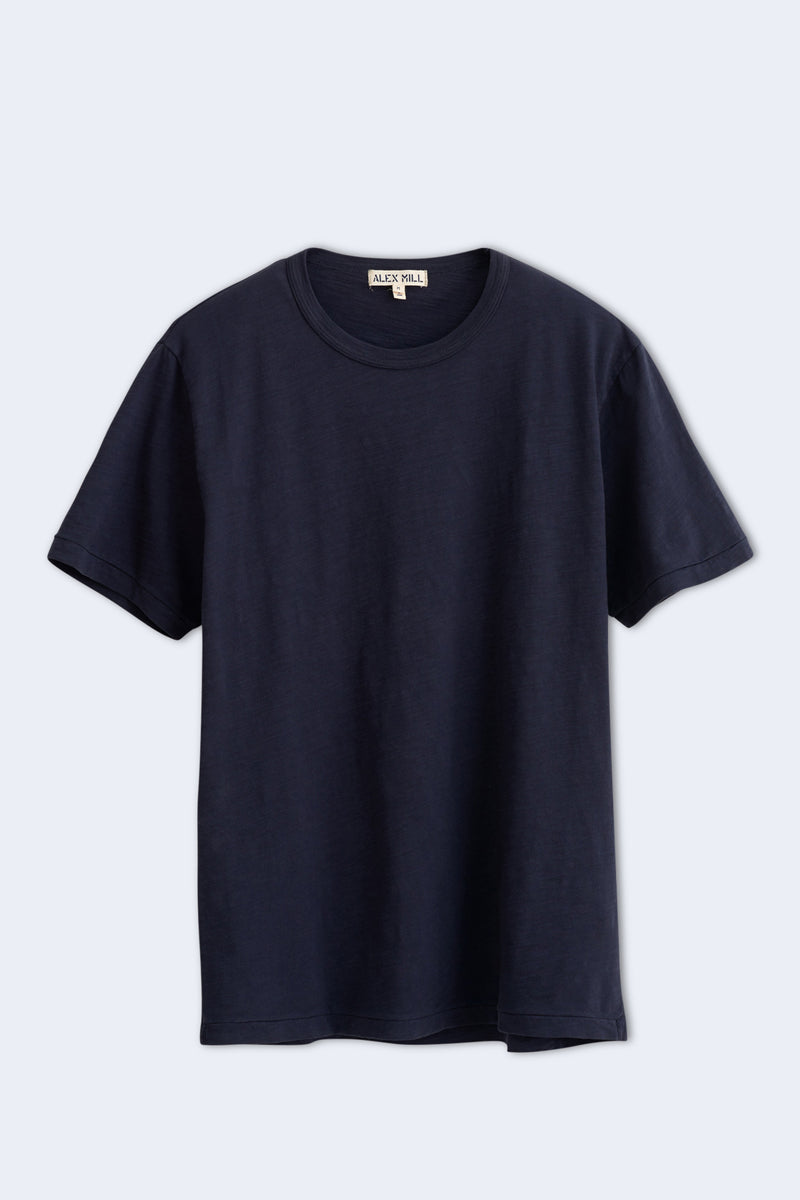 Men's Standard Slub Cotton Tee in Navy