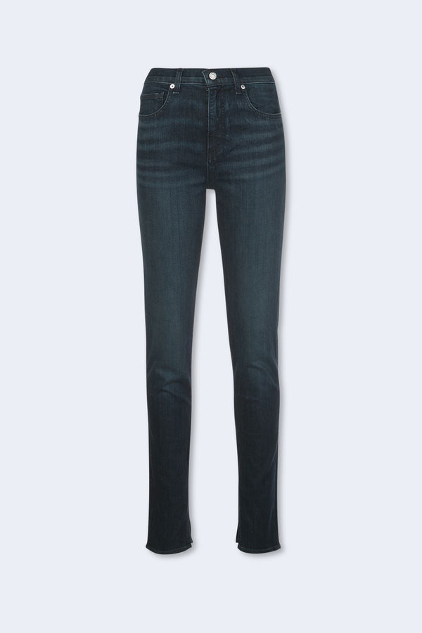Kate High Rise Skinny with Slit in Midnight