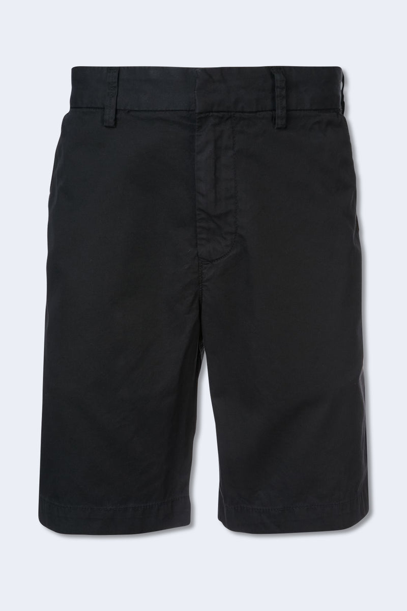 Light Twill Bermuda Short in Black