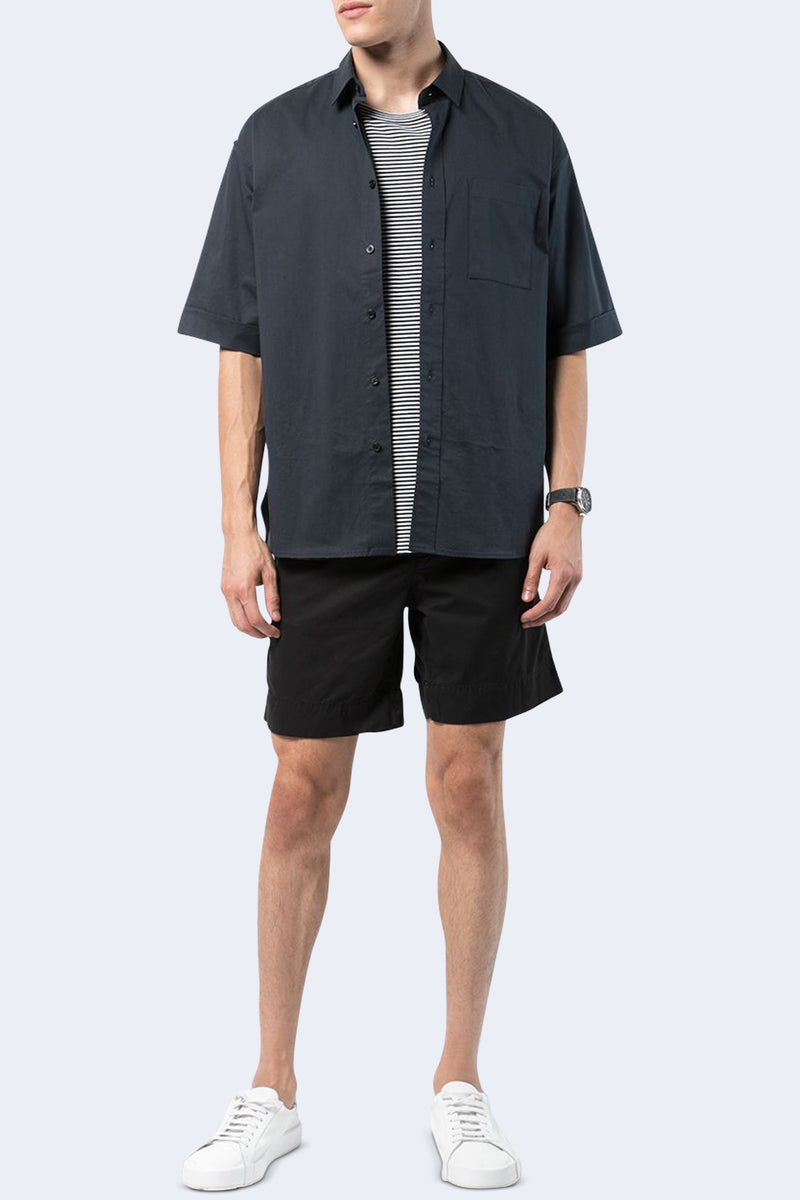 Light Twill Walking Short in Black