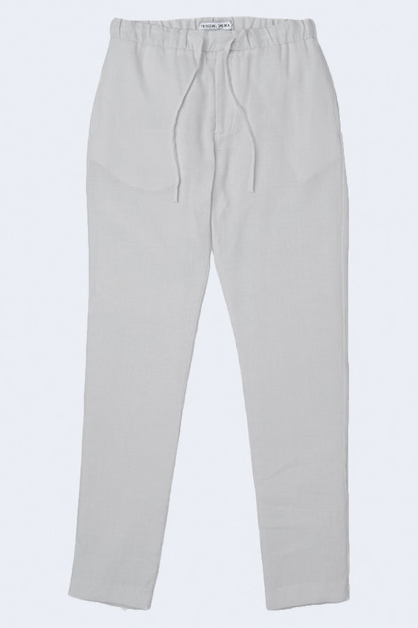 Sport Linen Chinos in Light Melange Grey