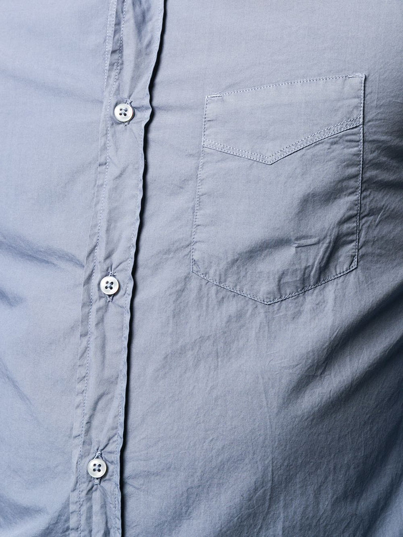 Lipp Stitch Pigment Dyed Button Down Shirt in Atlantic Blue