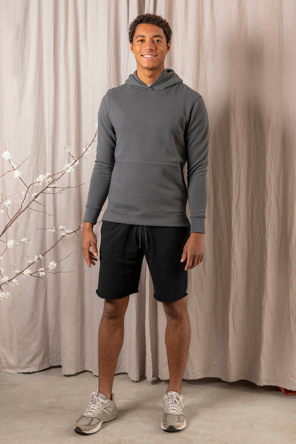 Lightweight Terry Sweatshort in Black