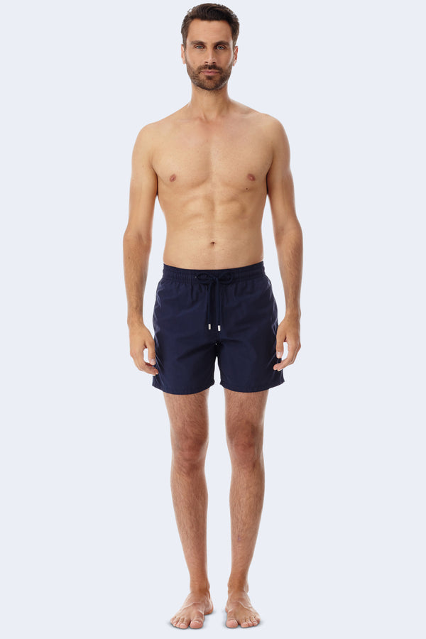 Moorea Dark Swim Short in Blue Marine