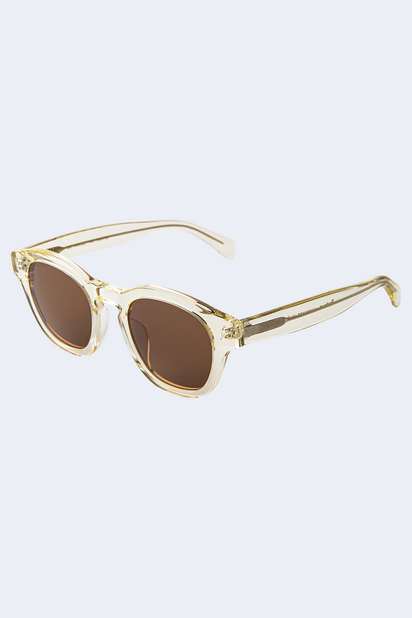 Madison Sunglasses in Champagne with Brown Lenses