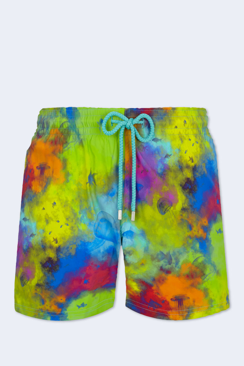 Holi Party Moorise Swim Short in Batik Blue