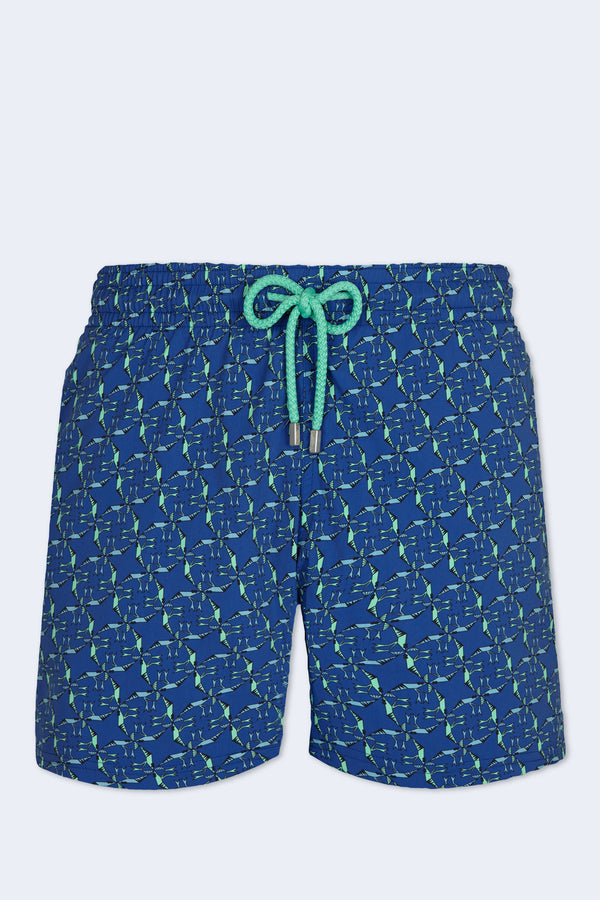 Nataraja Moorise Swim Short in Batik Blue