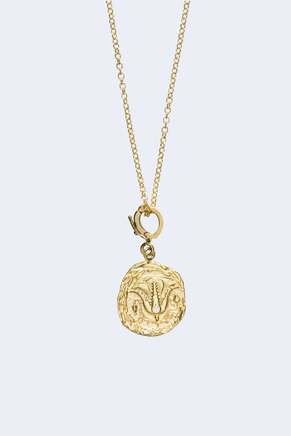 Of The Earth Small Diamond Coin Necklace