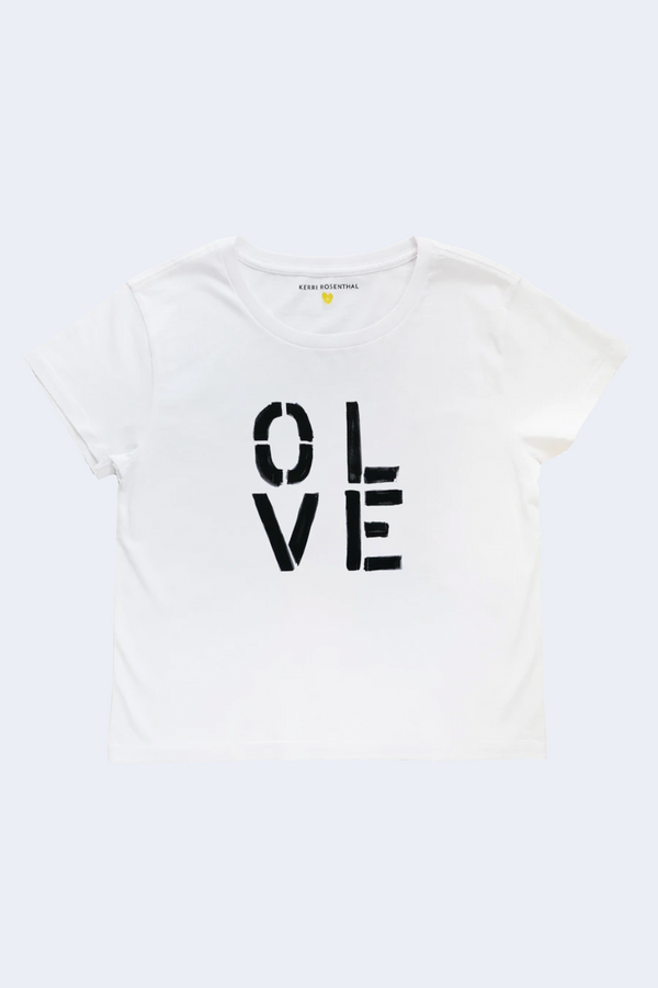 Olive You Tee in White