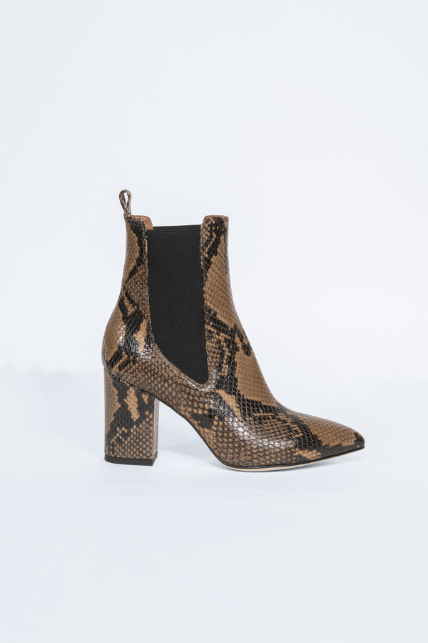Snake Print Ankle Booties