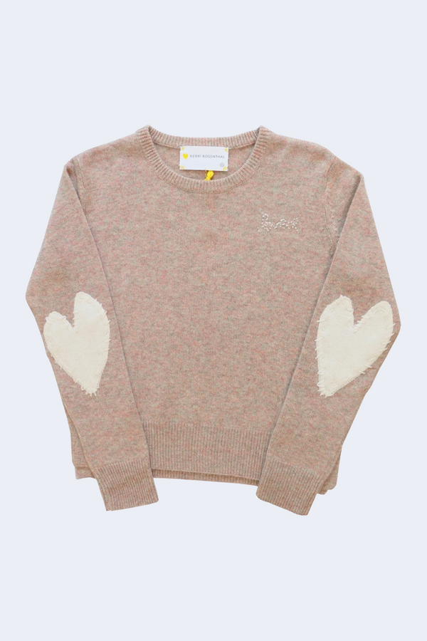 Patchwork Love Cashmere Pullover in Marled Ivory