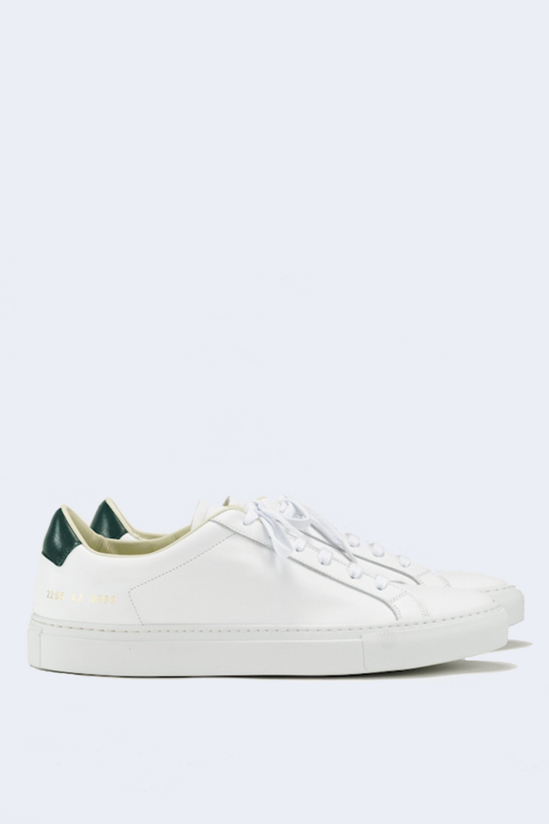 Men's Retro Low Sneaker in White Green