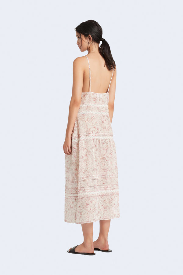 Caprice Panelled Maxi Dress in Caprice Print