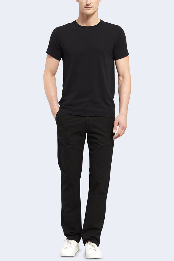 Short Sleeve Supima Crew Tee in Black