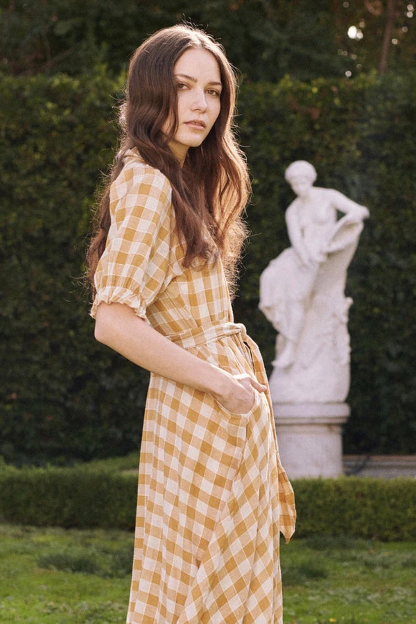 The Enchanting Dress in Buttercup Gingham