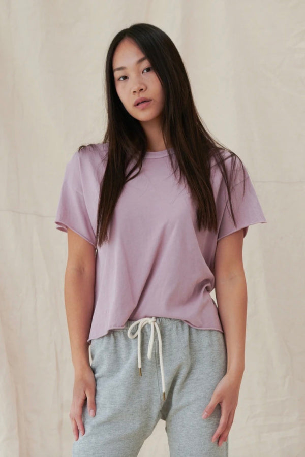 The Crop Tee in Orchid