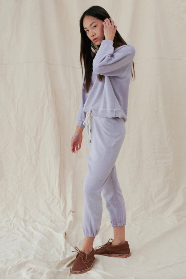 The Stadium Sweatpant in Heather Lilac