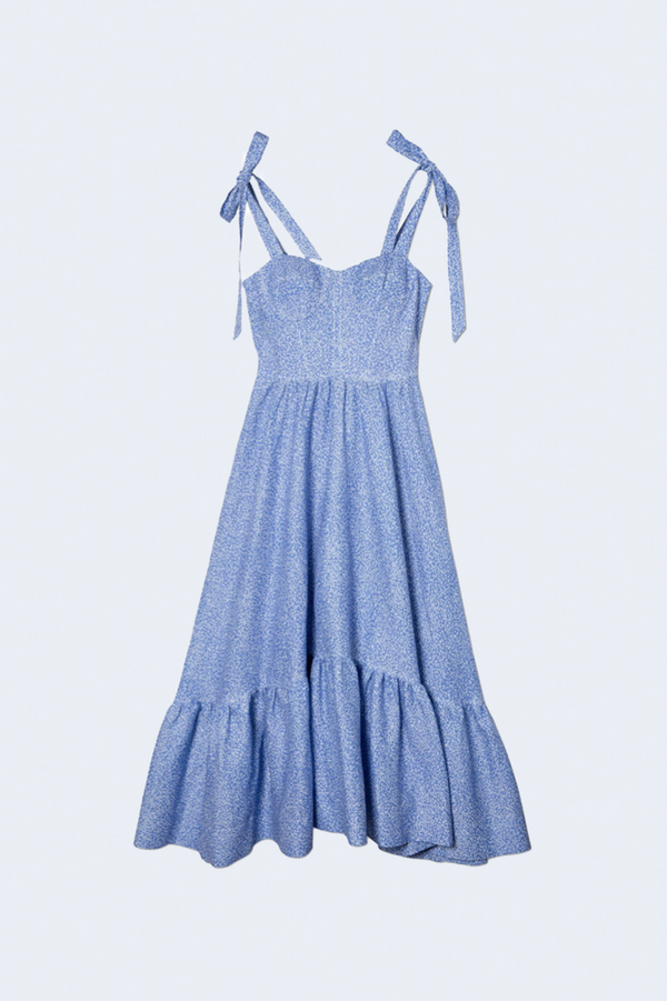Georgia Linen Bustier Midi Dress