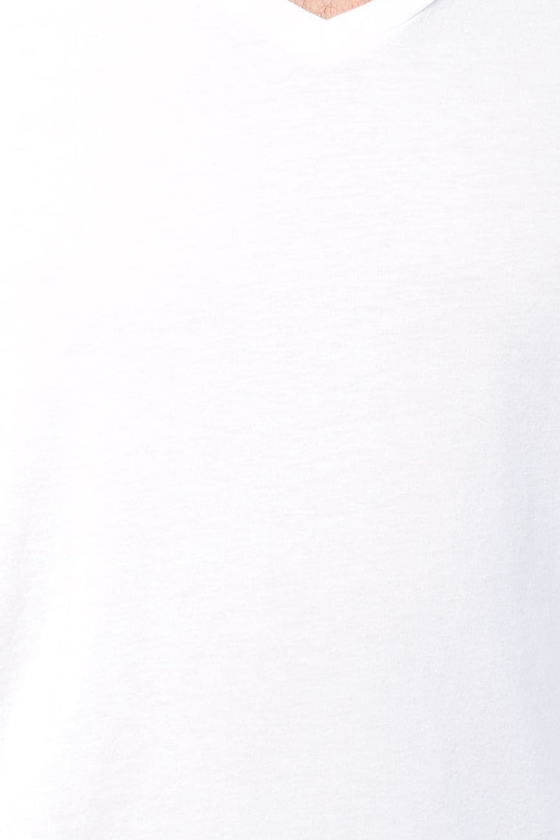 Short Sleeve Supima V-Neck Tee in White