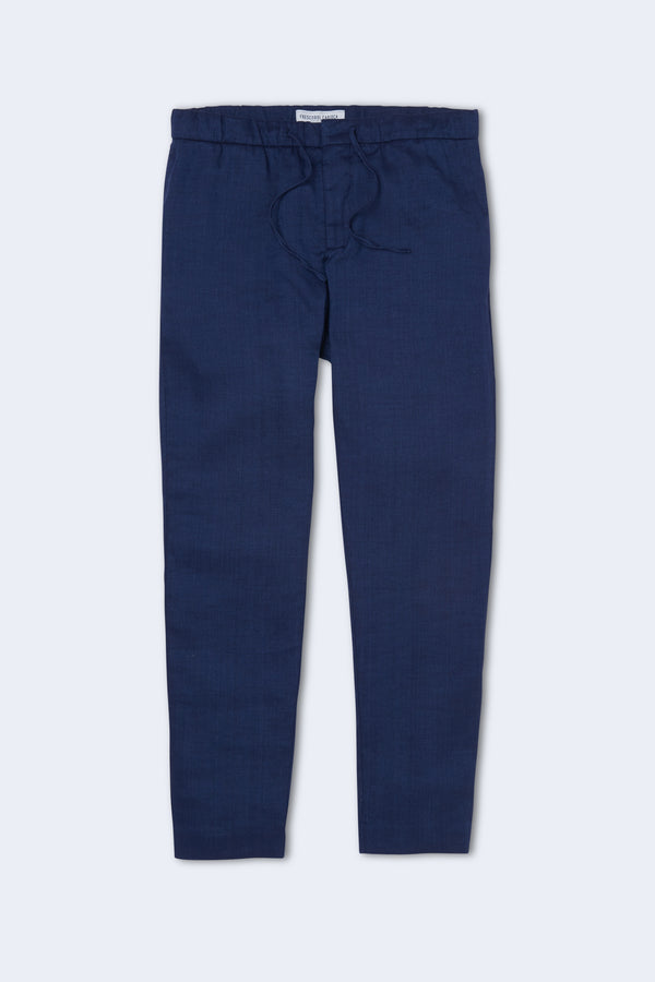 Sport Linen Chinos in Navy