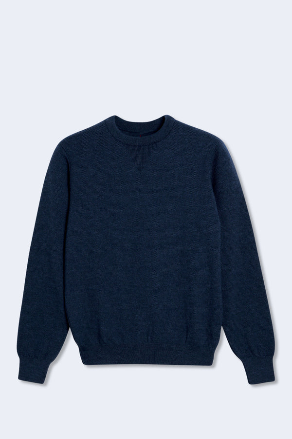 Stamford Cotton Jumper in Navy