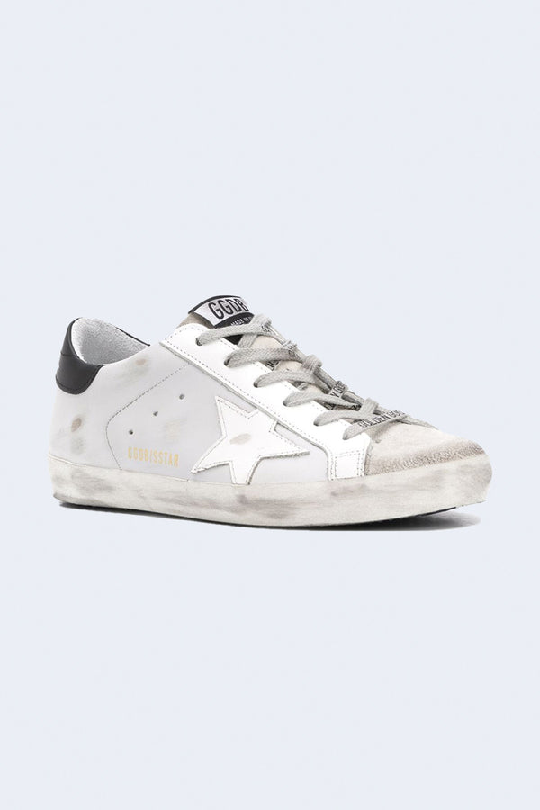 Women's Superstar Suede and Leather Sneakers in Ice Light Grey
