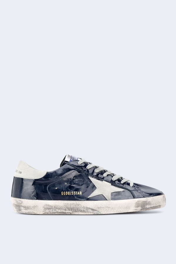 Men's Superstar Blue Wave Leather Ice Star Sneakers