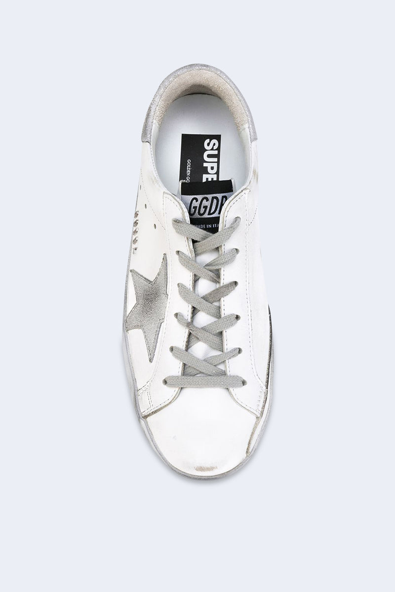 Women's Superstar Sparkle White Silver Star Sneakers