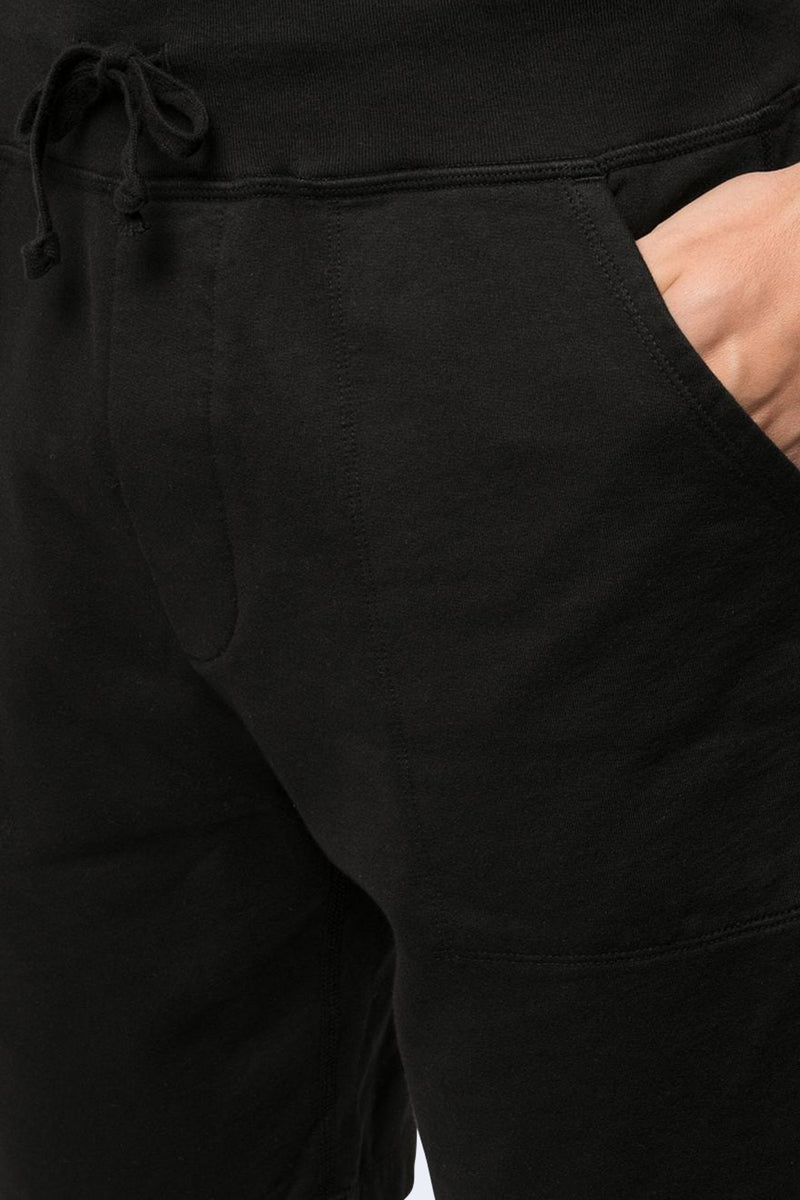 Supima Fleece Sweatshort in Black