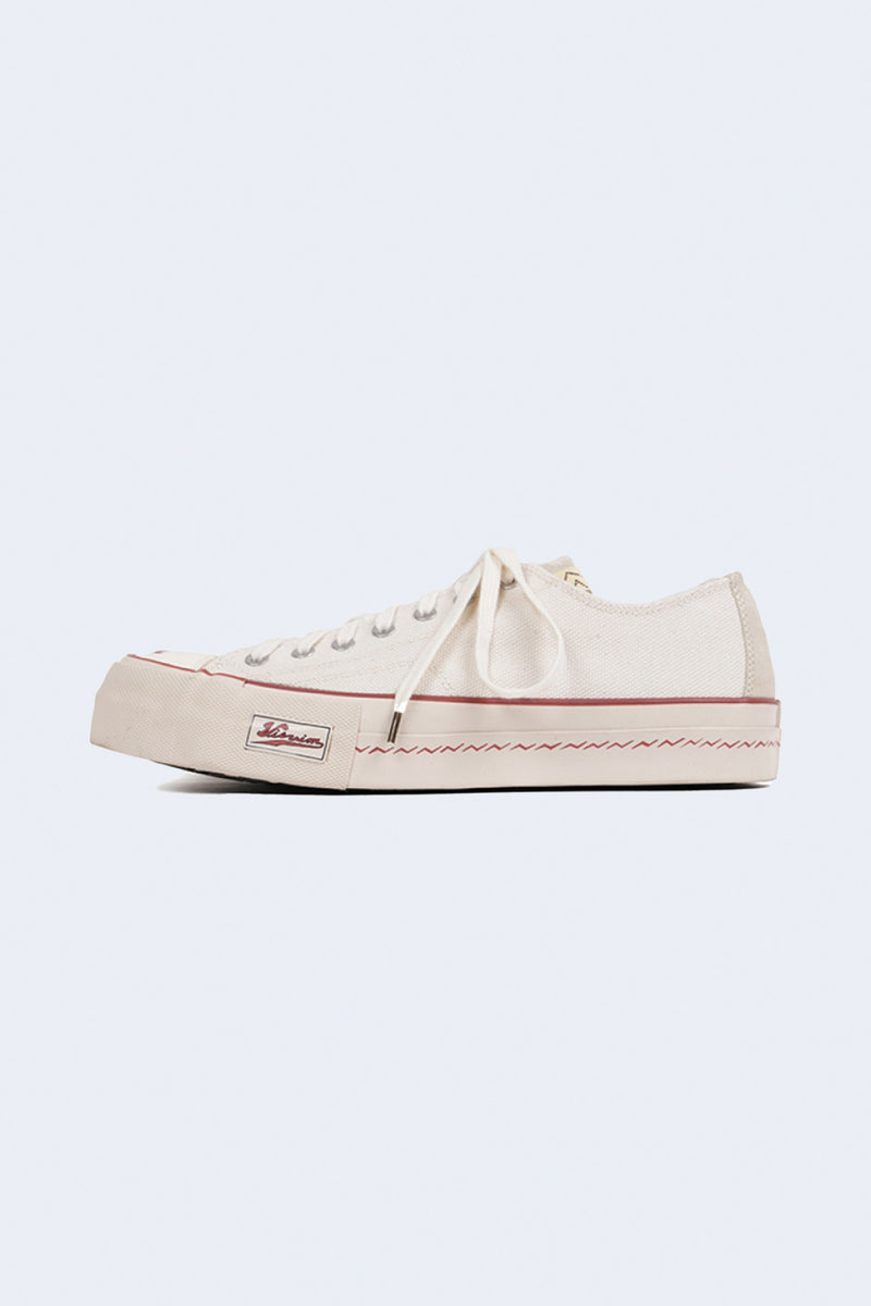 Skagway Lo Canvas Pattern Sneaker in Ivory