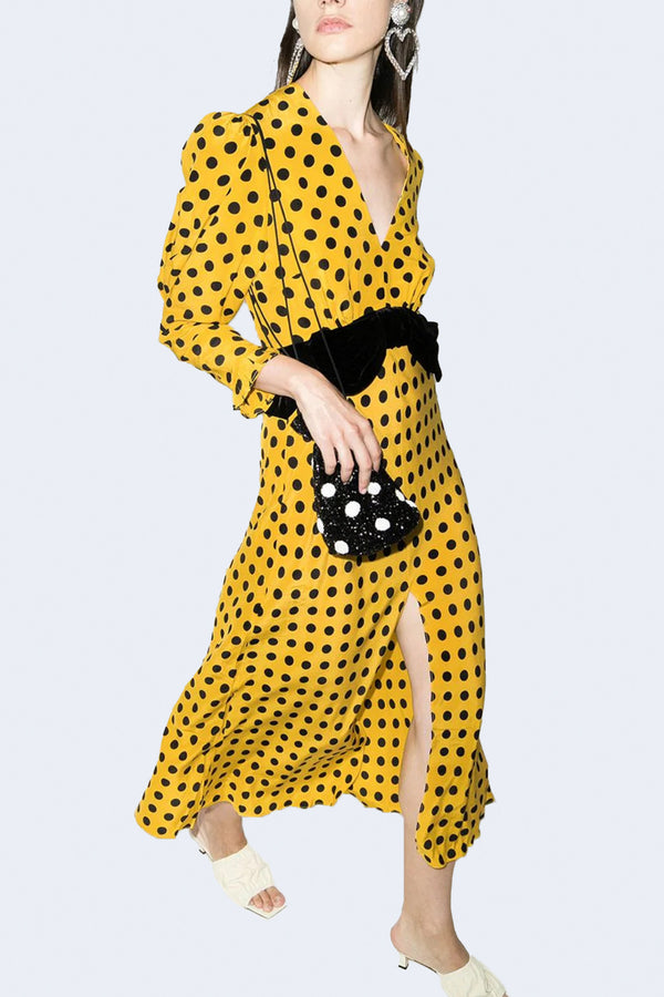 Elodie Dress in Mustard Spot