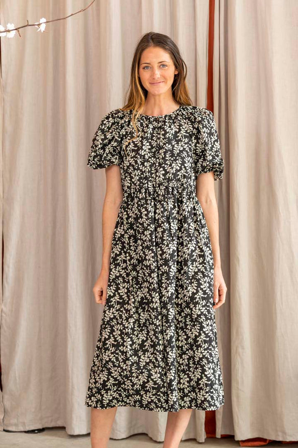 The Ravine Dress in Cottonwood Floral