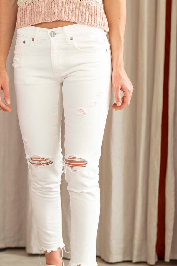 Women's Ankle Dre Jean in White